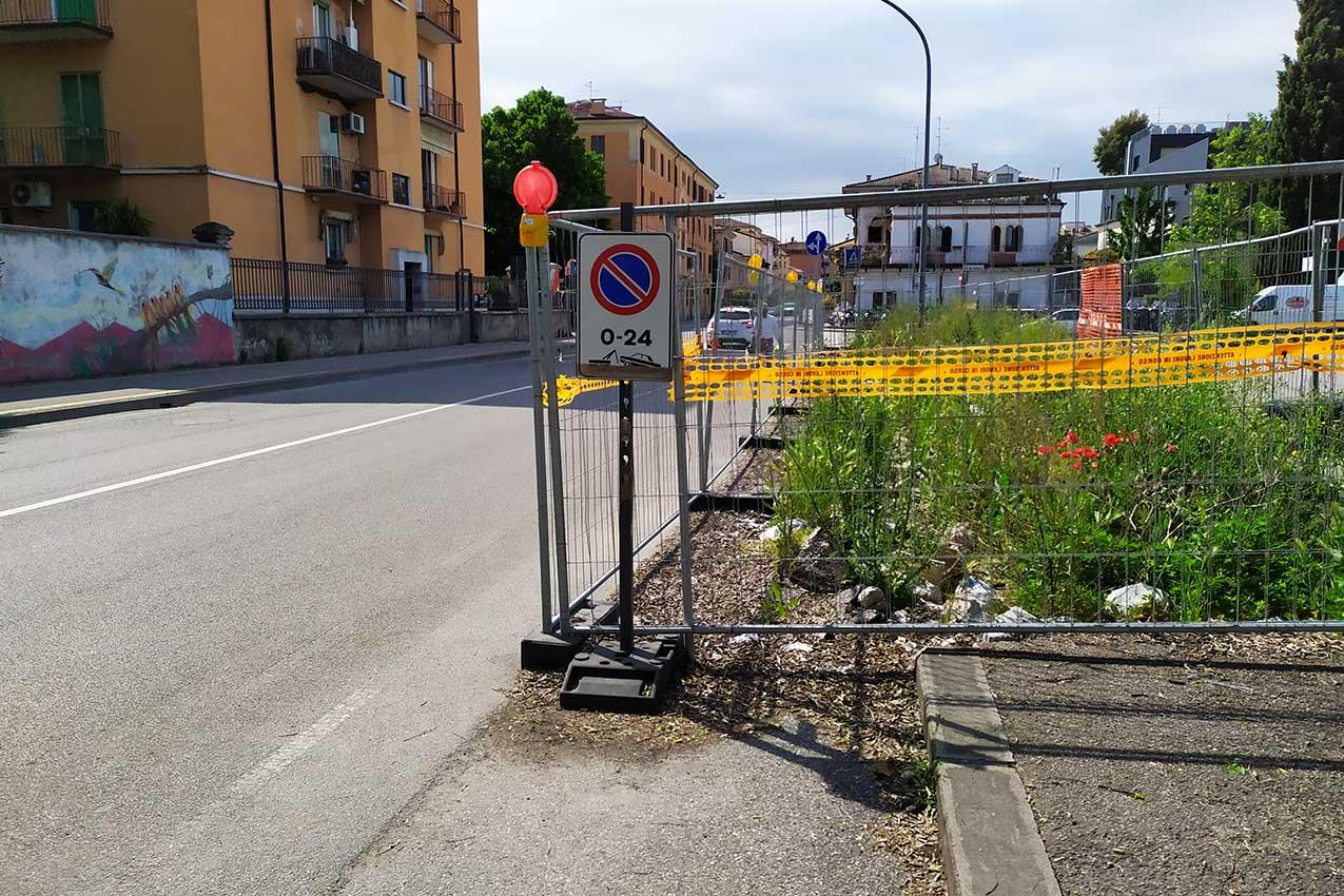 Cantiere filobus, via Scuderlando (Verona)