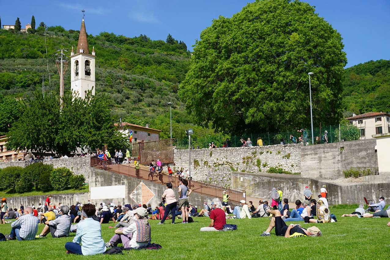 erona, 9 maggio 2021. Manifestazione per la difesa della collina in Valpantena