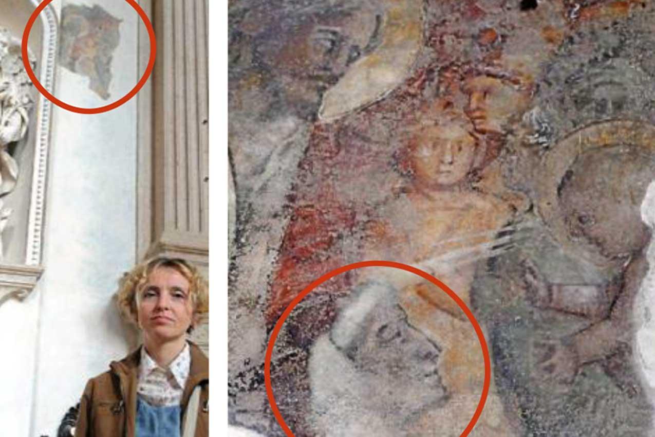 Anna Lerario e l'affresco in Sant'Anastasia a Verona con Dante
