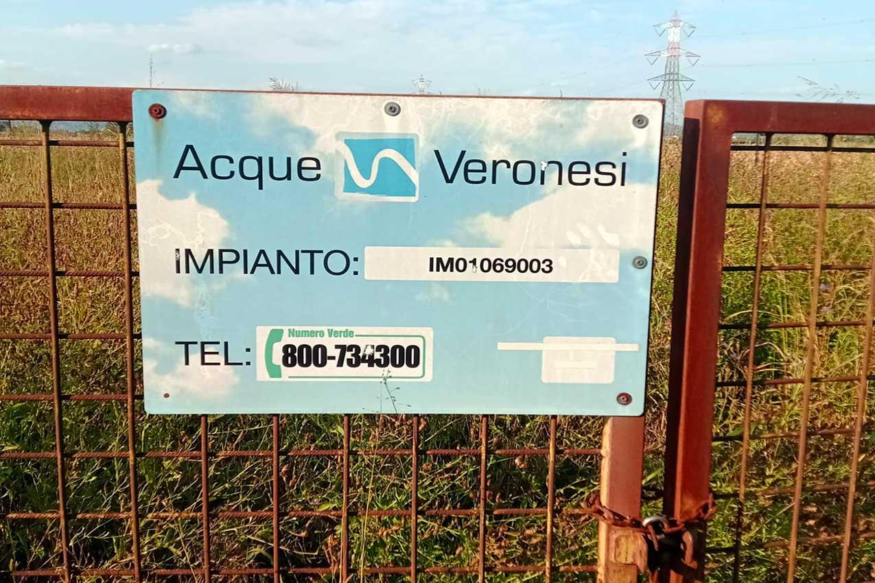 Il Tav attraverserà San Bonifacio, a pochi metri dai pozzi di acqua potabile gestiti da Acque Veronesi (foto M. Marcolungo)